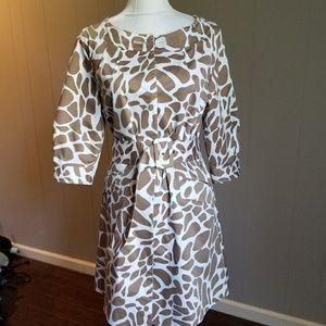 Animal print coat dress /with belt